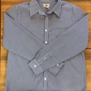 L.L. Bean 100% Cotton Button Up Collared Shirt
